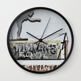 Historic Tucson Neon Sign Wall Clock