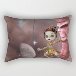 dancing on the moon Rectangular Pillow