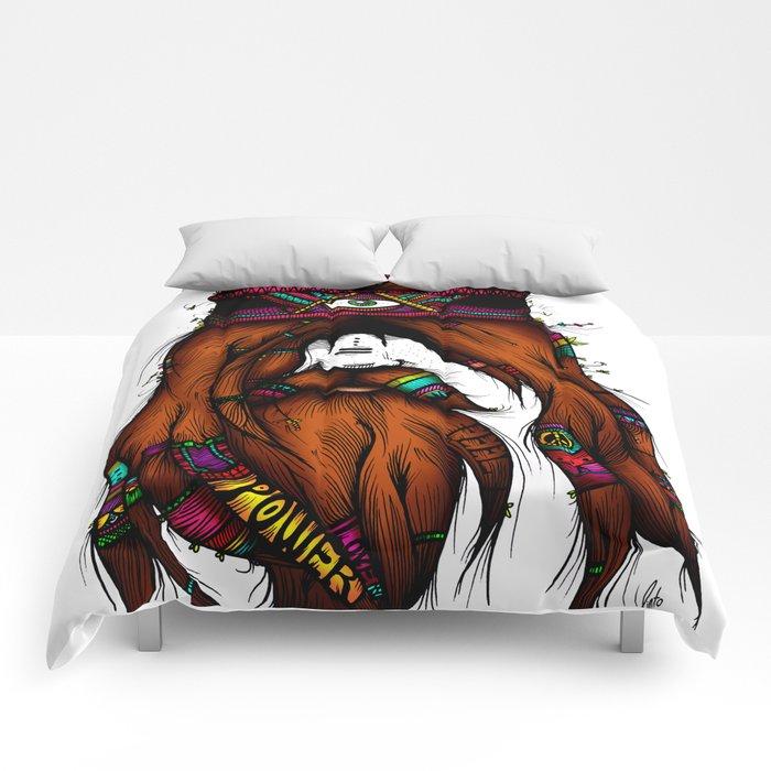 Feel, Peace, Love & Power (Color Version) Comforters