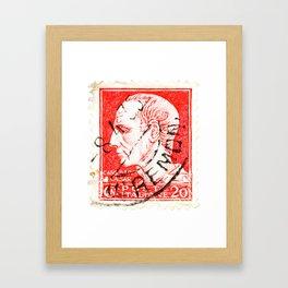 Ceasar Stamp Framed Art Print