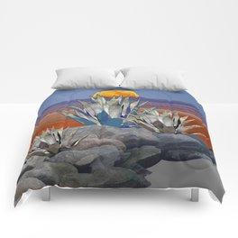 DESERT MOON AGAVE  LANDSCAPE CACTUS ART Comforters