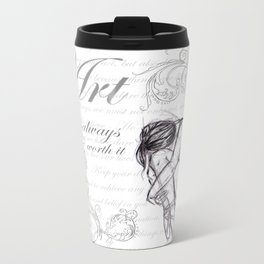 Art is Always Worth it Filigree Metal Travel Mug