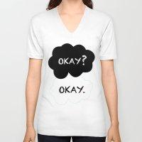 okay V-neck T-shirts featuring Okay by Hoeroine