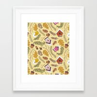 70s Framed Art Prints featuring 70s Woodland by Aron Gelineau
