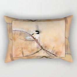 Joys Are My Wings Chickadee Art Rectangular Pillow