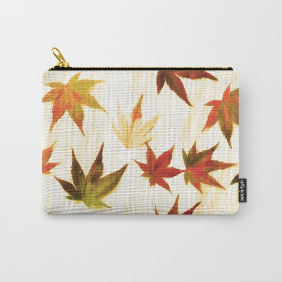 AUTUMN LEAVES PATTERN #3 #decor #art #society6 Carry-All Pouch