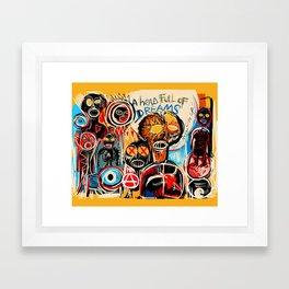 Head full of dreams Framed Art Print