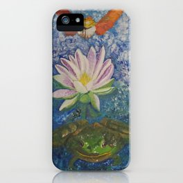 Hummingbird Moth and Frog iPhone Case