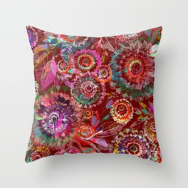 Floral abstract 54 Throw Pillow