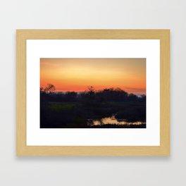 Sunset at the sanctuary  Framed Art Print