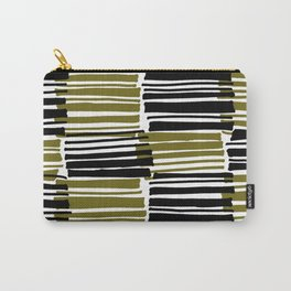 Khaki and Black Stripes - Sarah Bagshaw Carry-All Pouch