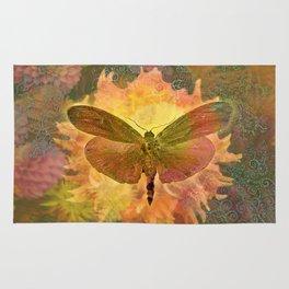 Autum Dhalia Buttefly Circadia Rug