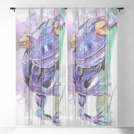 Purple Frog Sheer Curtain