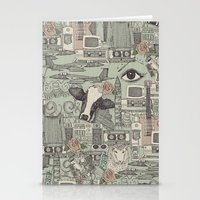 airplanes Stationery Cards featuring Dolly et al by Sharon Turner