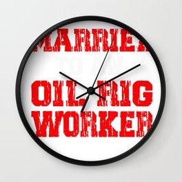 Oil Rig Worker Married USA American Gas Oilfield Wall Clock