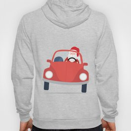 Santa Claus coming to you on his Car Sleigh Hoody