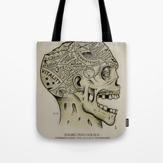 Zombie Phrenology Tote Bag
