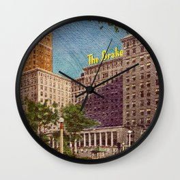The Drake Chicago Wall Clock