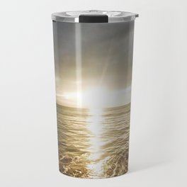 Sunset Over the Ocean Travel Mug