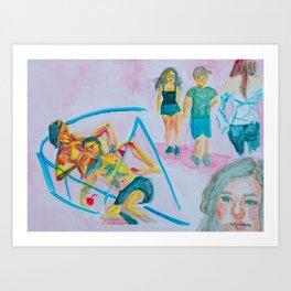 One Direction Girlfriend Royalty Art Print