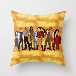 Cartoon Firefly Throw Pillow