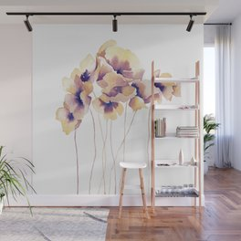 Violet Poppies Wall Mural