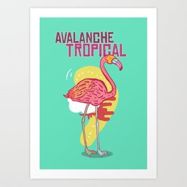 Avalanche Tropical Art Print