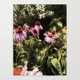 Summer in the Ether: Wild Flowers of Bright Pastures Poster