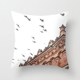 Citys Bird Sanctuary Throw Pillow