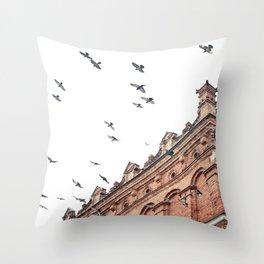 Citys Bird Sanctuary Throw Pillow