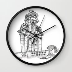 Bell gable Wall Clock