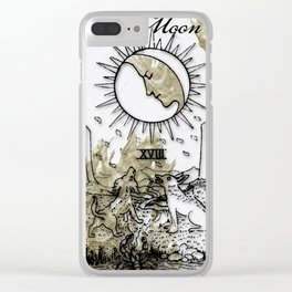 Glamour Tarot The Moon Clear iPhone Case