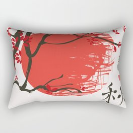 Autumn landscape with tree  Hieroglyphs autumn, truth Rectangular Pillow