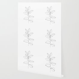 One line plant illustration - Dany Wallpaper