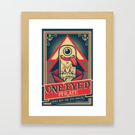 One-eyed Pirate Framed Art Print