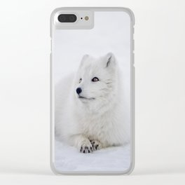 Arctic Fox Clear iPhone Case