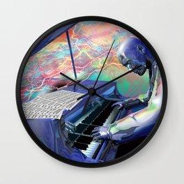 Blue Piano Wall Clock