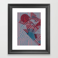 Dazzle Camo #02 - Blue & Red Framed Art Print