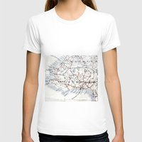 jamaica T-shirts featuring Map Section: Jamaica by Shaunia McKenzie