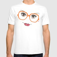 Hipster Eyes 2 Mens Fitted Tee White MEDIUM