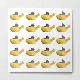 Banana Cat Metal Print