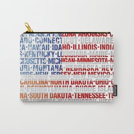 USA states flag Carry-All Pouch