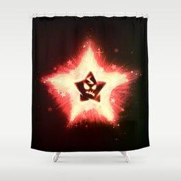 Disgruntled Star Shower Curtain