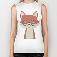 mr fox Biker Tanks featuring Mr. Fox by Kelly Rae Bahr