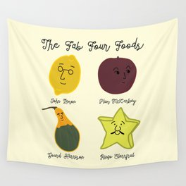 The Fab Four Foods Wall Tapestry