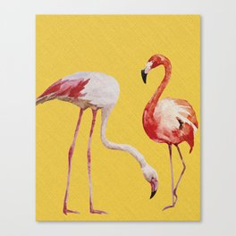 Bold Flamingo Caribbean and Tropical inspired design Canvas Print