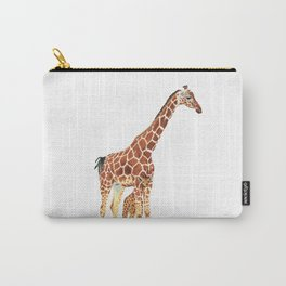 Giraffe Art - A Mother's Love - By Sharon Cummings Carry-All Pouch