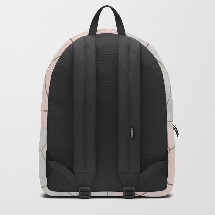 Florence dreams - marble geometric Backpack