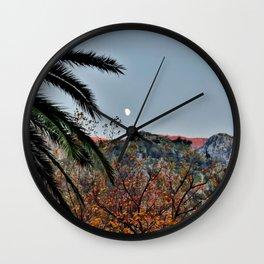 Moon Over Kotor Wall Clock