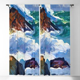 George Bellows Sunlit Surf Blackout Curtain